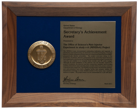 Energy Secretary's Award of Achievement